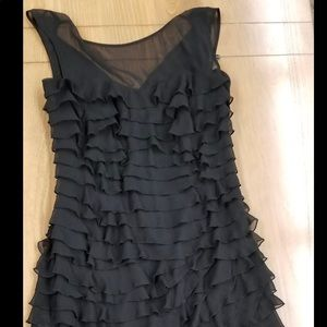 Express Black Ruffle Dress.